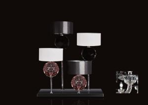Stone Table Lamp Crystal Black T 3