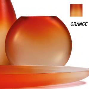 Occulto Round Flat Vase Orange