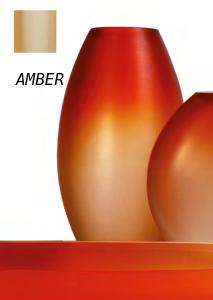 Occulto oval vase Amber