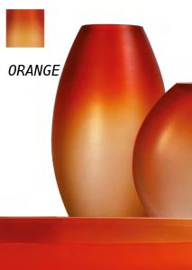 Occulto oval vase Orange