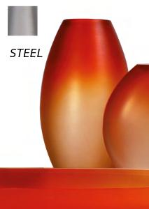 Occulto oval vase steel