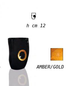 calici veneziani water glass mfob205 amber gold