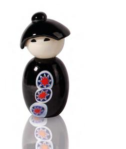 kokeshi murano black murrine