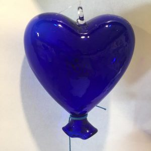 Heart Balloon Dark Blue