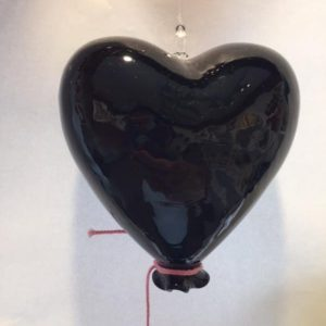 Heart Balloon Black